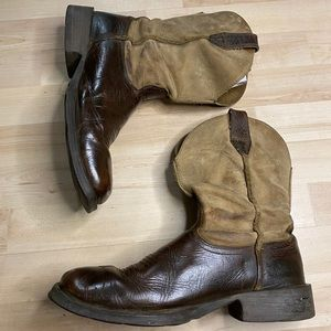 Ariat Rambler Square Brown Leather Boots 9.5EE